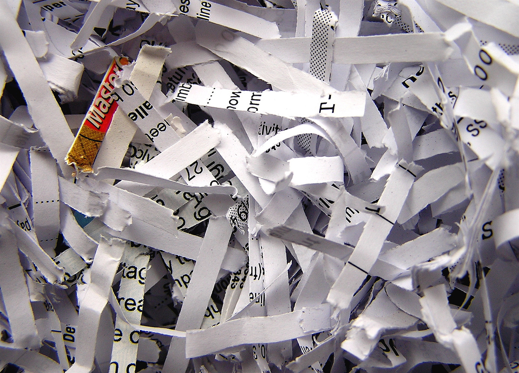 Shredded Resume