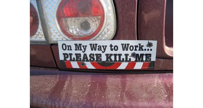 on-my-way-to-work-bumper-sticker